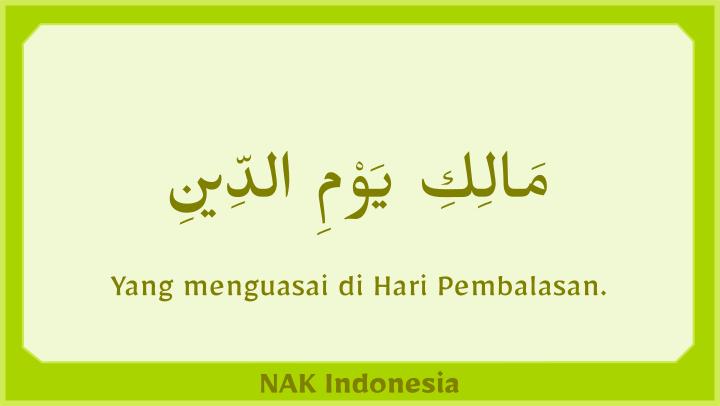 Al Fatihah hari pembalasan