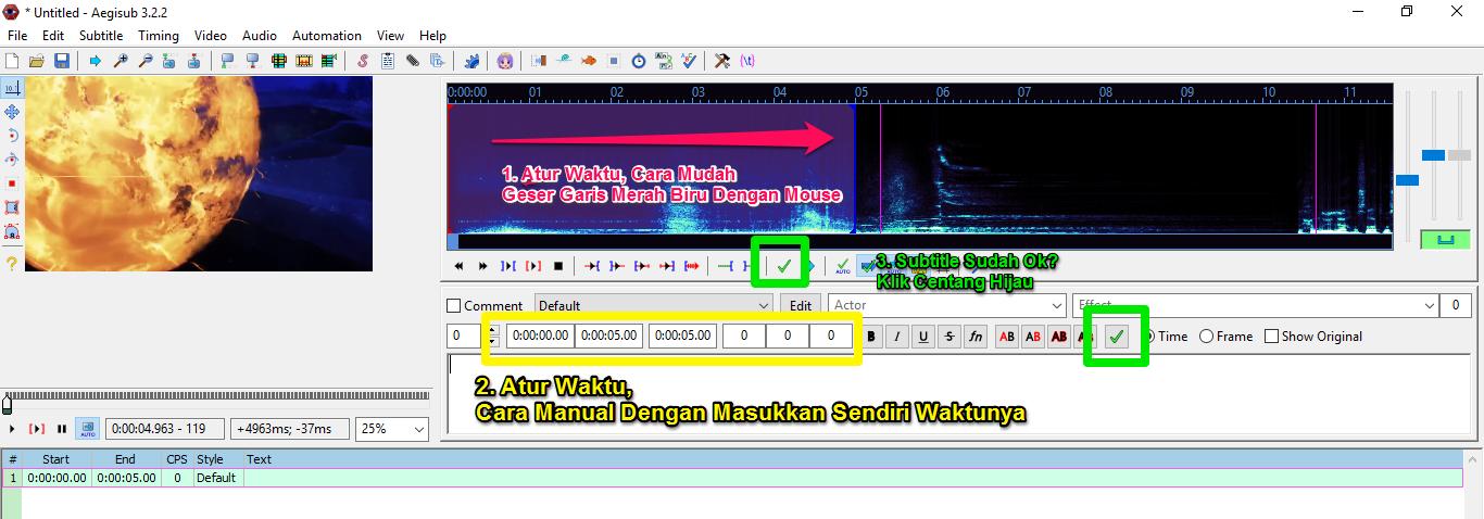 Tutorial Aegisub: Cara Membuat Subtitle Untuk Video