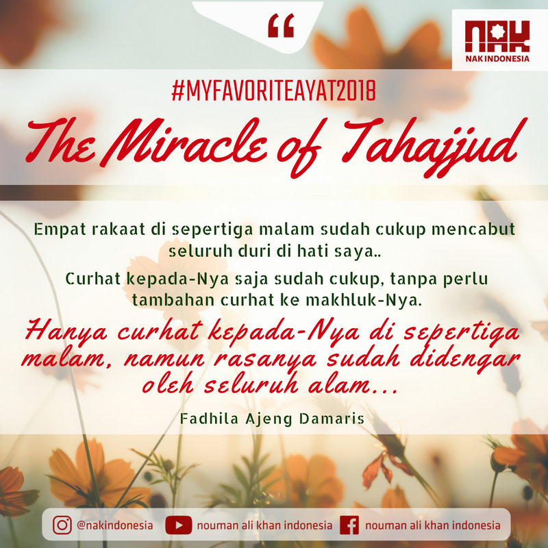 MFA 2018 The Miracle of Tahajud