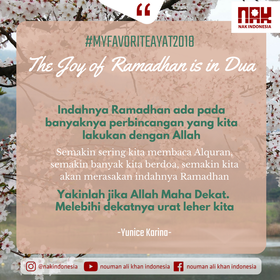MFA2018 - The Joy of Ramadhan is in Dua