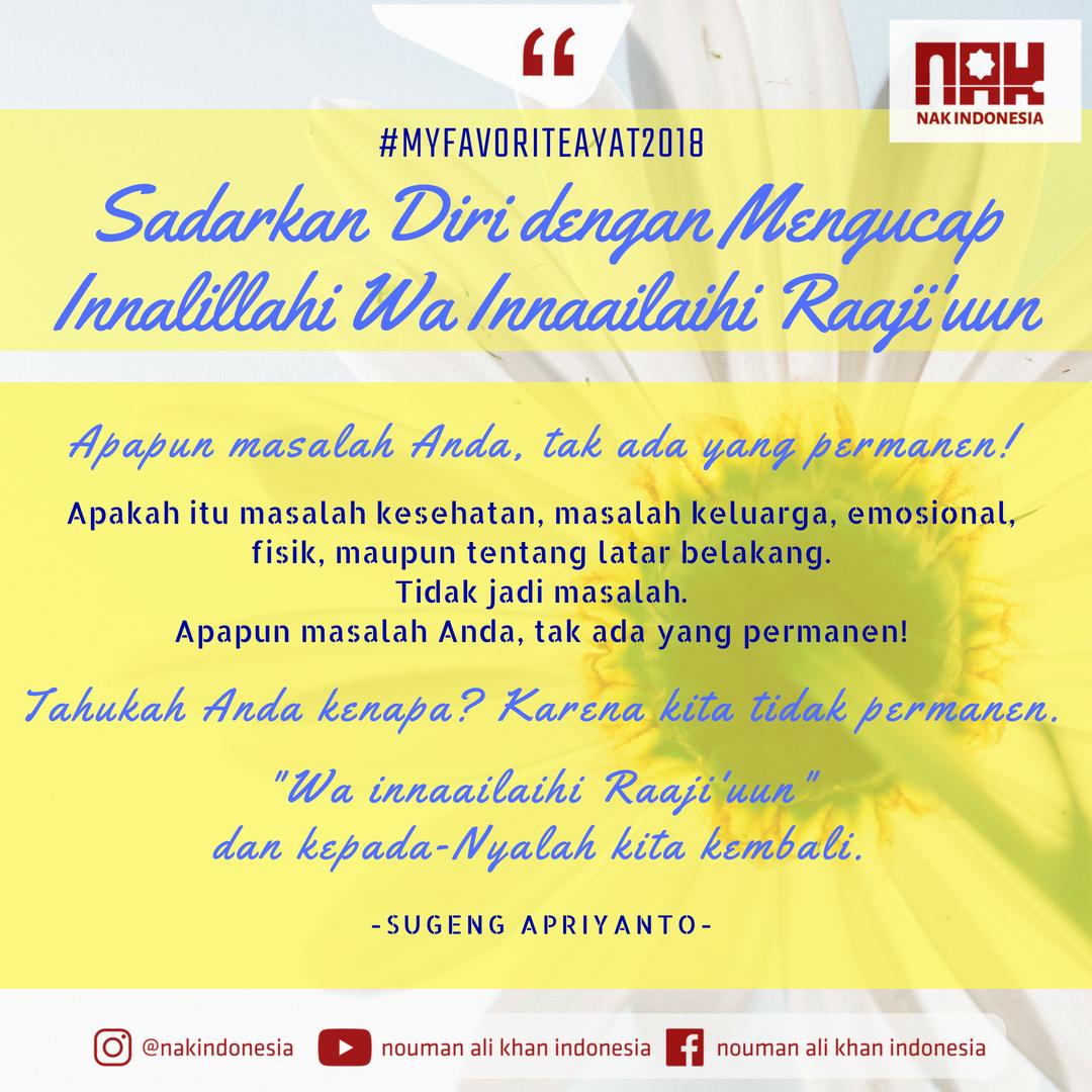 [MFA 2018] Sadarkan Diri dengan Mengucap Innalillahi Wa Innaailaihi Raaji'uun - Sugeng Apriyanto