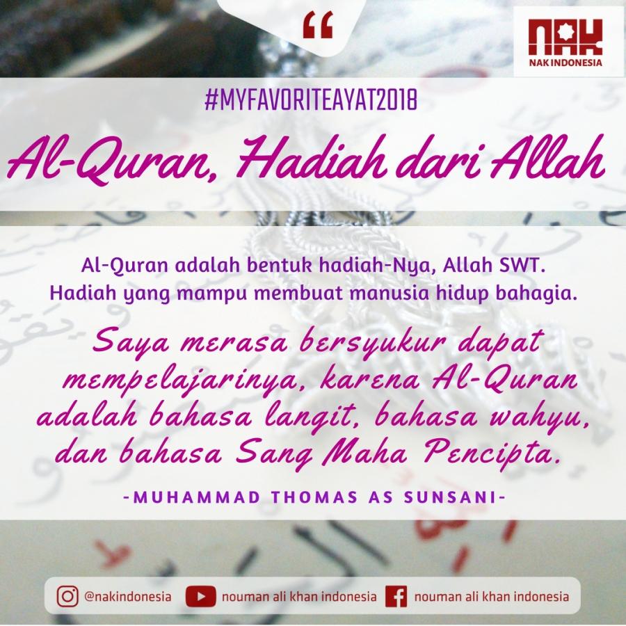 MFA2018 - Al Quran, Hadiah dari Allah