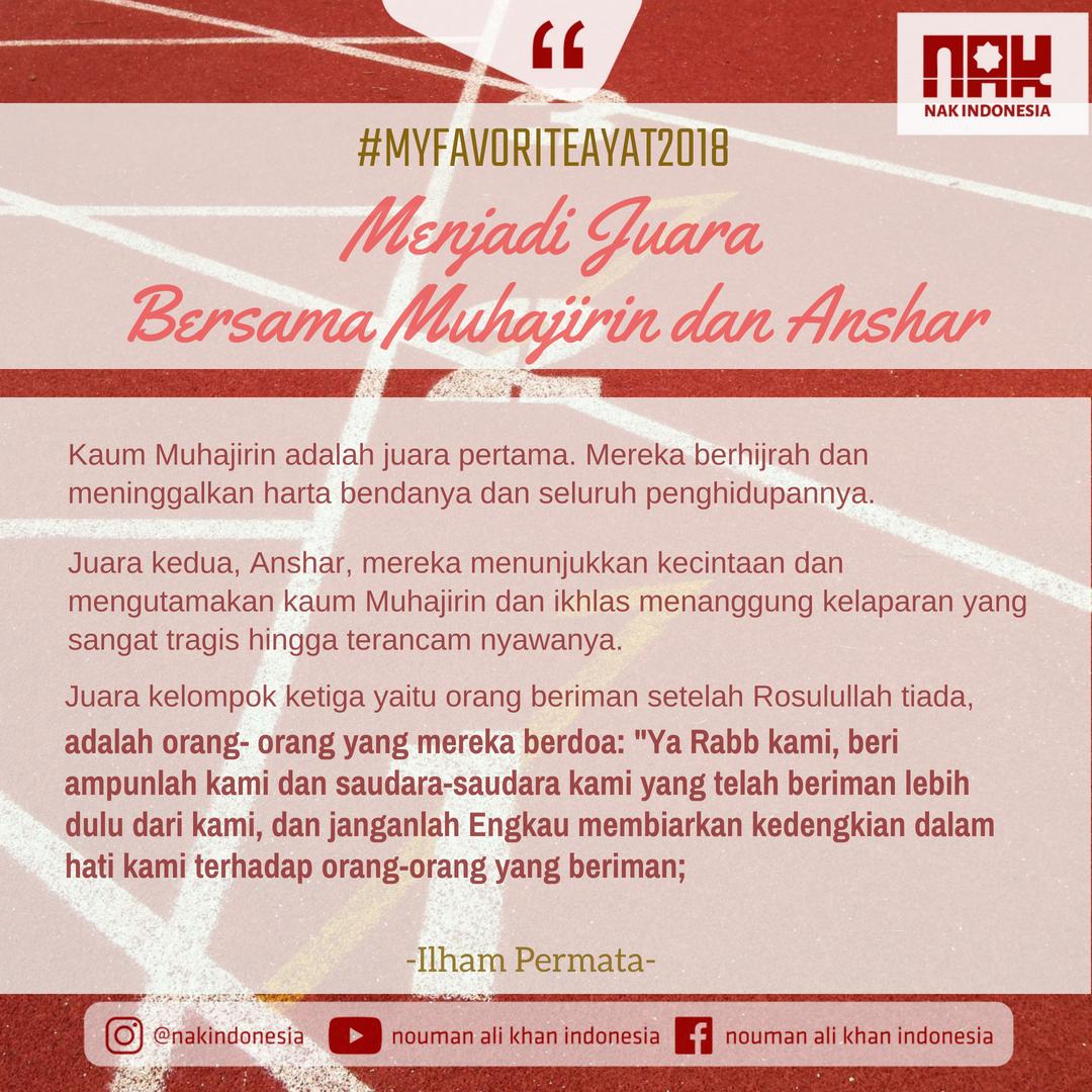 [MFA2018] Menjadi Juara Bersama Muhajirin dan Anshar - Ilham Permata