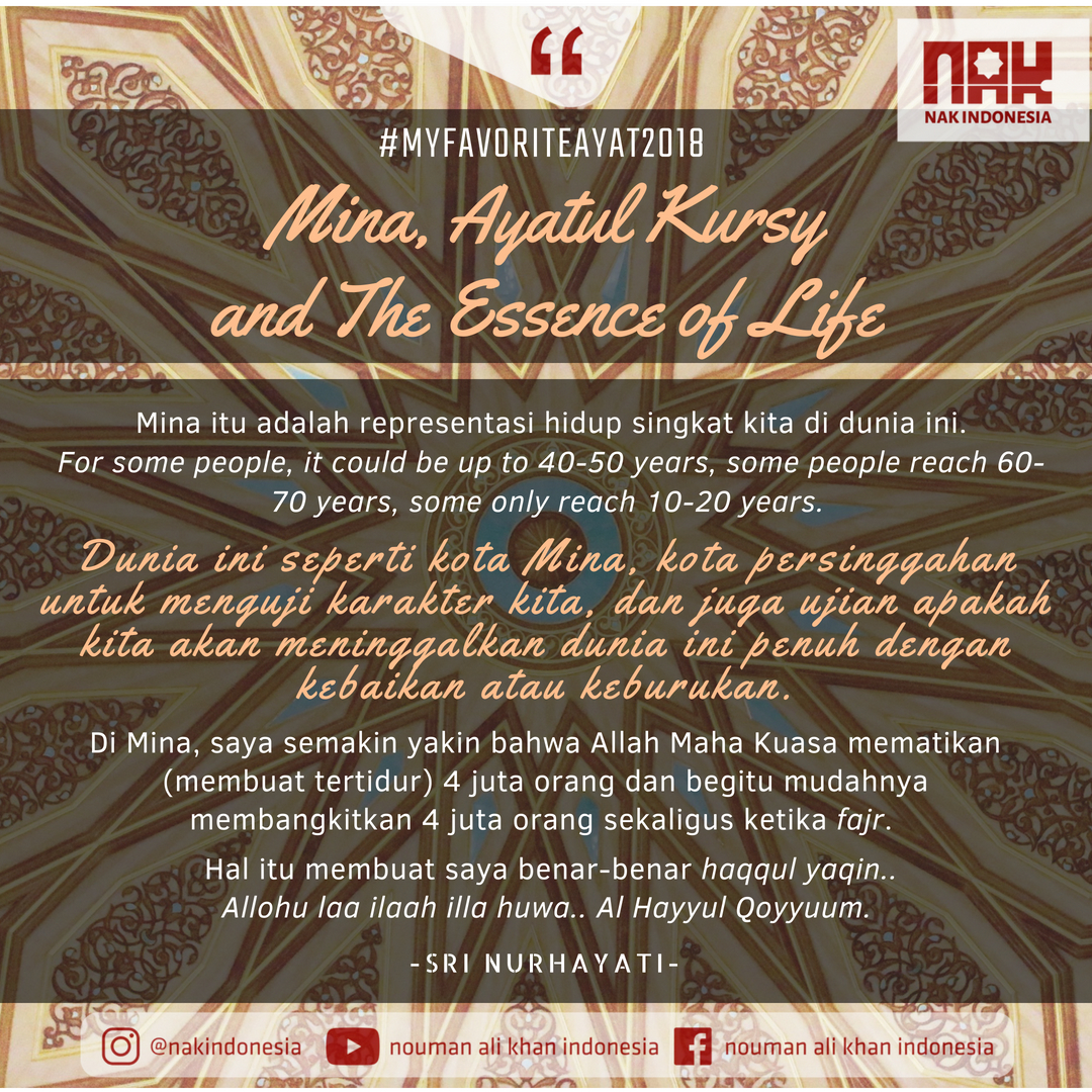 MFA2018] Mina, Ayatul Kursy and The Essence of Life - Sri Nurhayati