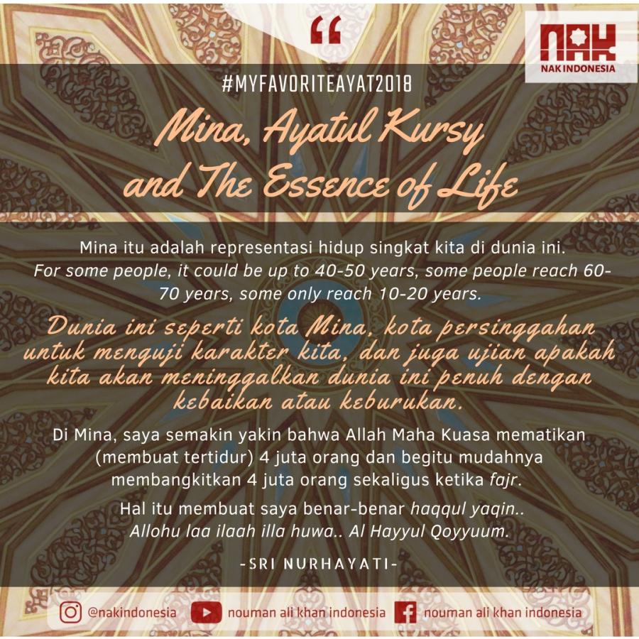 MFA2018] Mina, Ayatul Kursy and The Essence of Life - Sri Nurhayati