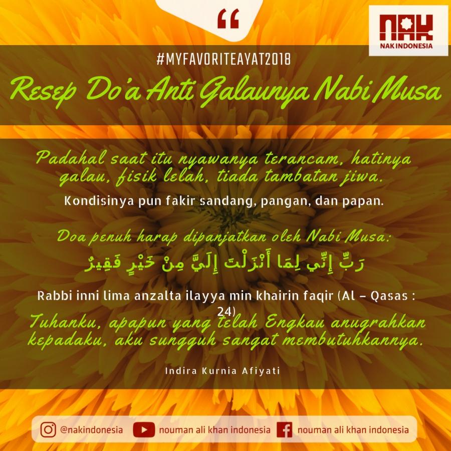 [MFA2018] Resep Doa Anti Galaunya Nabi Musa - Indira Kurnia Afiyati