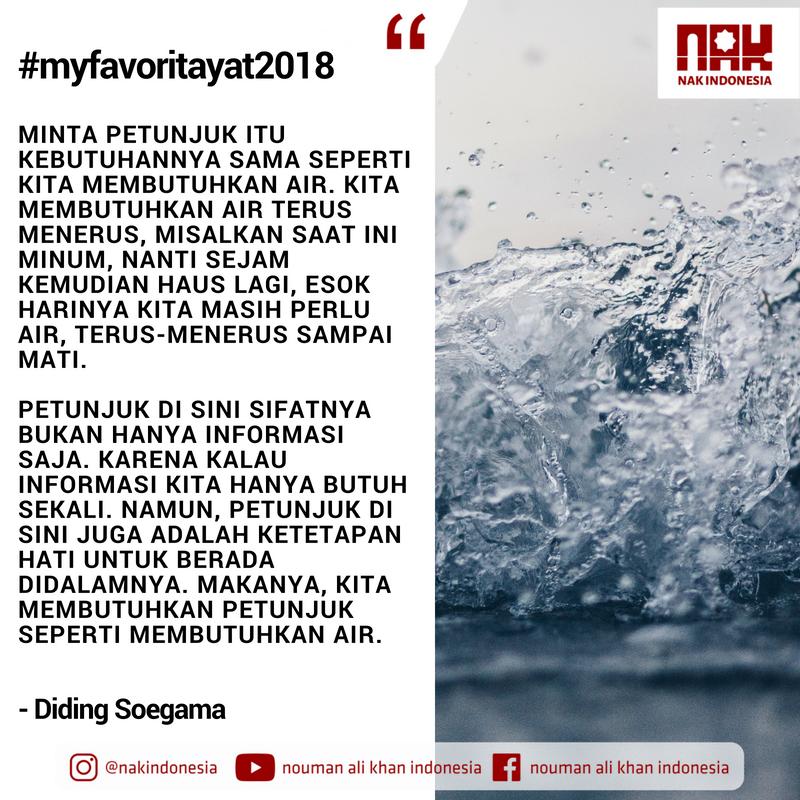 [MFA2018] Meneguk Air Hidayah & Memantaskan Diri - Diding Soegama