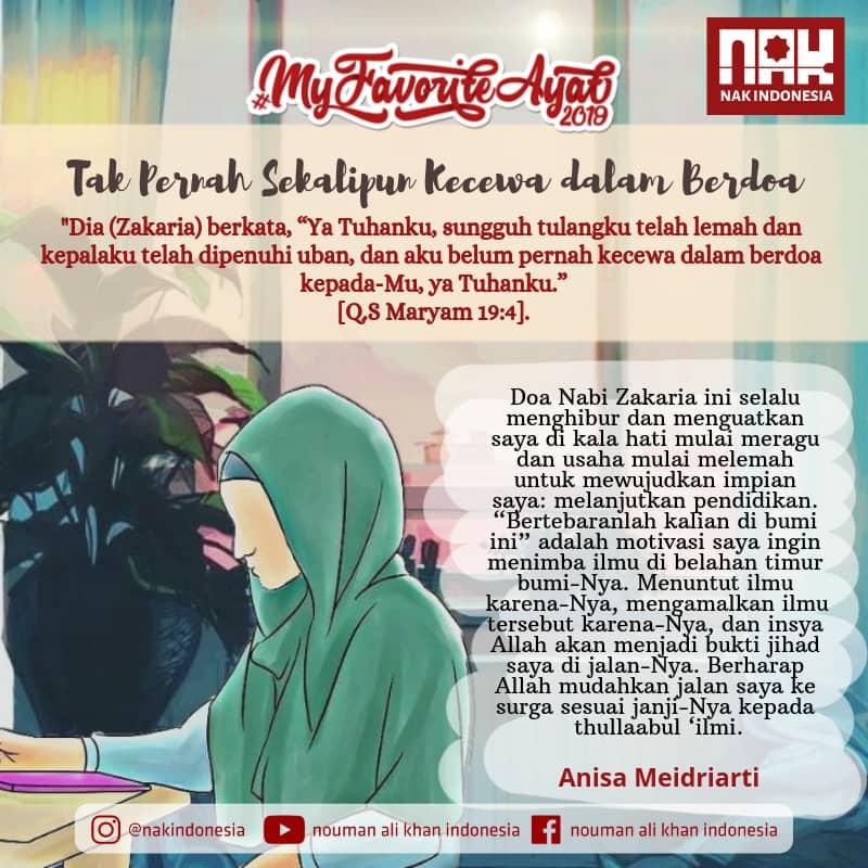 Mfa2019 Tak Pernah Sekalipun Kecewa Dalam Berdoa Anisa